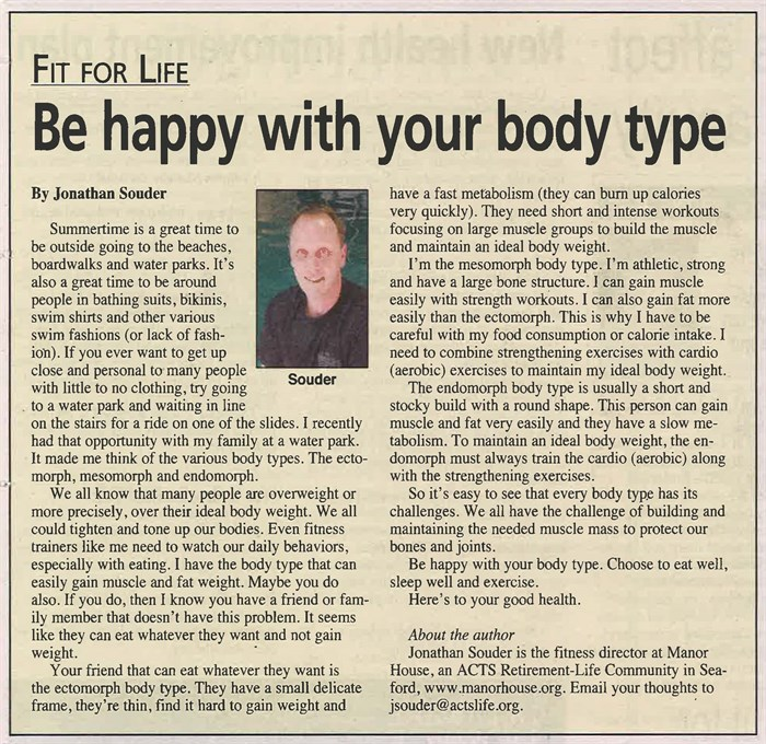 be happy with your body type