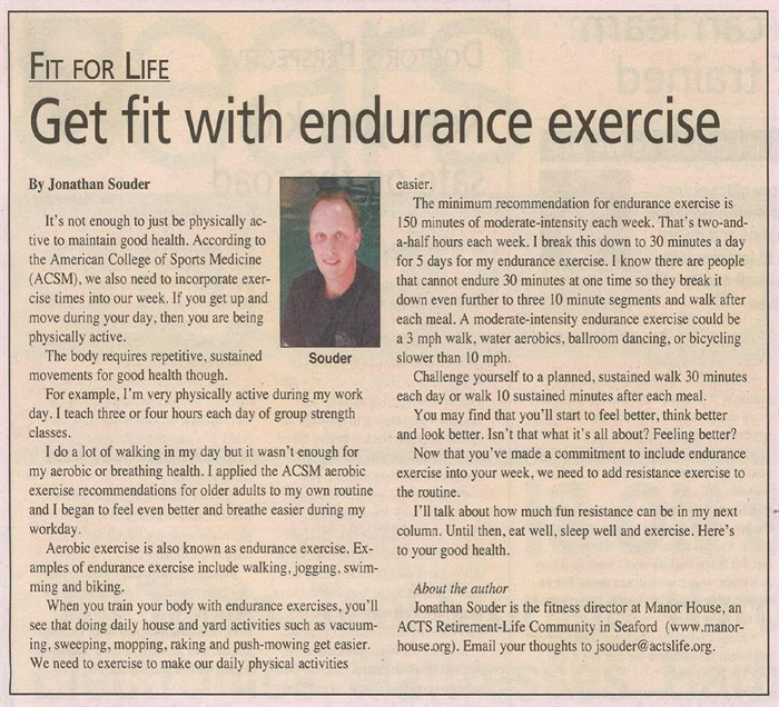get fit with endurance exercise