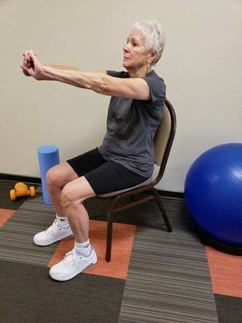 upper back stretch senior exercise
