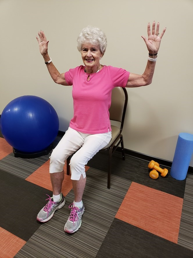 chest stretch senior exercise