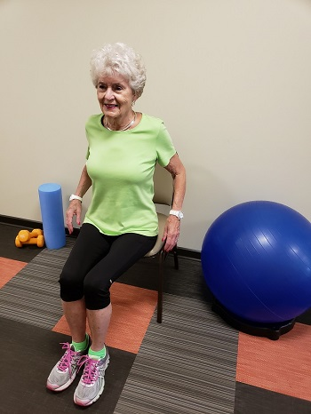 shoulder rolls senior exercise
