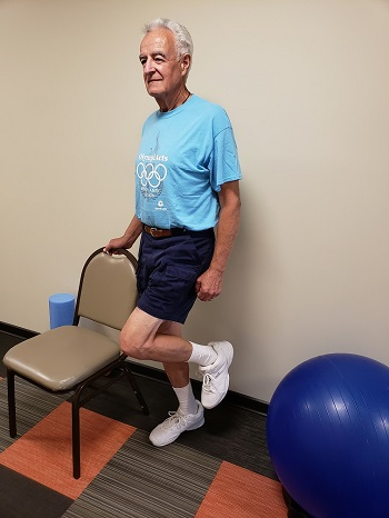 single leg stance senior exercise