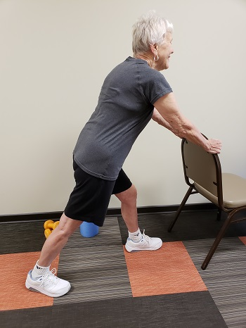 standing calf stretch senior exercise
