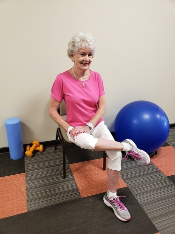hip rotator stretch senior exercise