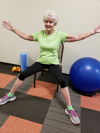 seated jumping jacks senior exercise