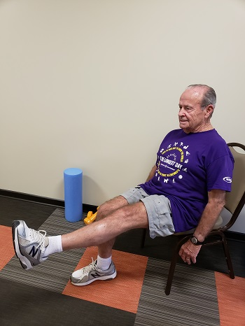 knee extension senior exercise