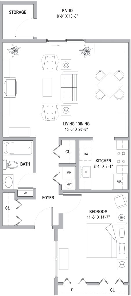 FH One Bedroom Classic Cottage 847 Sq Ft.png