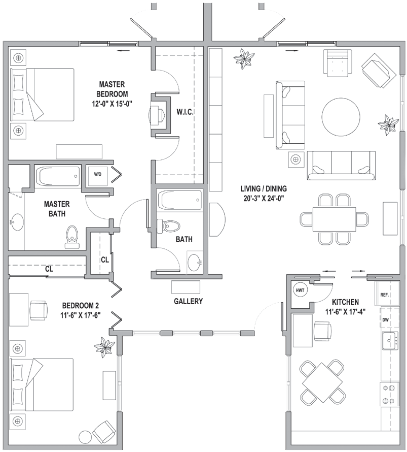 FH Two Bedroom-Gallery Classic Cottage 1677 Sq Ft.png
