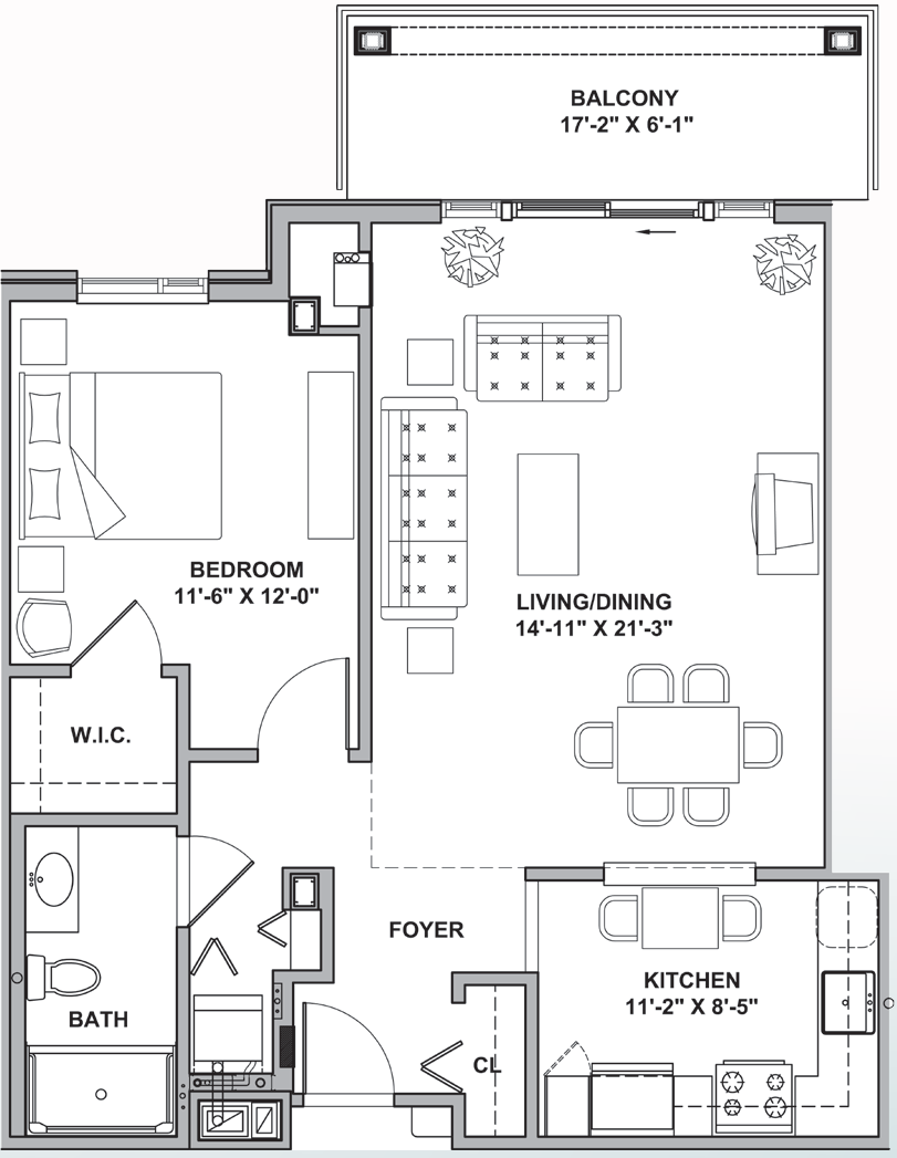 FH Anne Arundel i&II Courtyard One Bedroom 770-848 Sq Ft.png