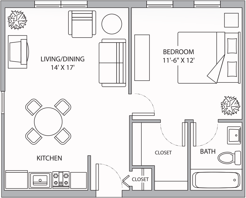 FH Aspen One Bedroom 546 Sq Ft.png