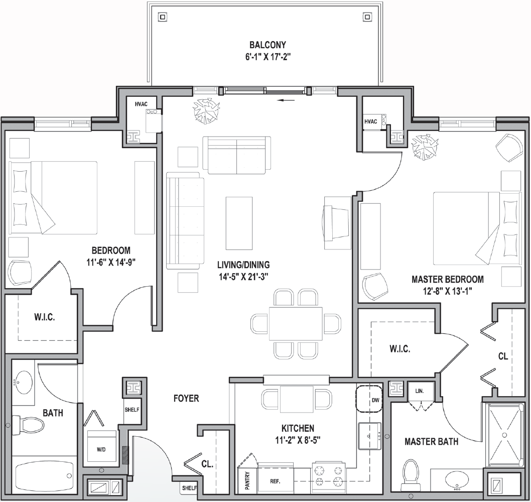 FH Carroll I&II Courtyard Two Bedrooms 1205-1248 Sq Ft.png