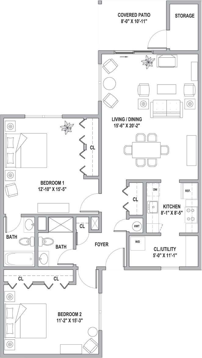 FH Cottages at the Point Two Bedroom Deluxe 1240 Sq Ft.png