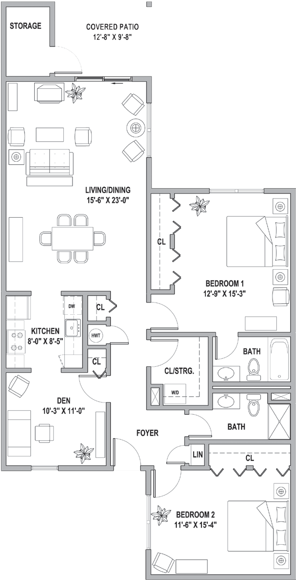 FH Cottages at the Point Two BEdroom Den 1435 Sq Ft.png